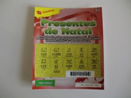 Loterie/ Lottery/ Loteria/ Lotaria Instant Instantânia Raspadinha Presentes De Natal Jogo Nº 397 Portugal - Loterijbiljetten