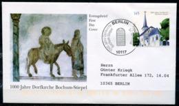 """Künstler First Day Cover Germany 2008 Mi. Nr.2646 Ersttagsbrief """"1000 Jahre Dorfkirche Bochum-Stiepel """"1 FDC - Kirchen U. Kathedralen"""