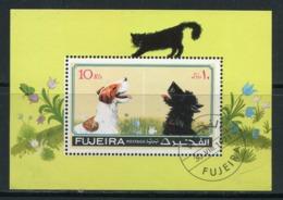 FUJEIRA- Timbre Oblitéré (chiens Et Chats) - Chiens