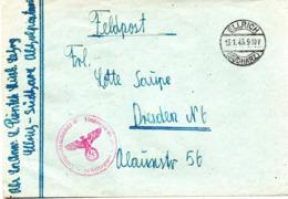 (2WK-3) Original Feldpostbrief 2.WK  TSt 13.1.1943 ELLRICH (SÜDHARZ) Gelaufen Nach DRESDEN - Briefe U. Dokumente