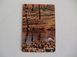 Swan Cisne Ervanário Do Lago Póvoa De Varzim Portugal Portuguese Pocket Calendar 1985 - Klein Formaat: 1981-90