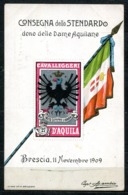 CV3020 MILITARI REGGIMENTALI 27° Reggimento Cavalleggeri Aquila, Consegna Dello Stendardo Dono Delle Dame Aquilane, Bres - Regiments