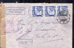 Nederlandse Indië - Censor - Calcutta - Luchtpost - Deutschland - Berlin - Berlijn - Transmission - 20.1.40 - Censuur - Nederlands-Indië