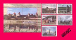 TRANSNISTRIA 2019 Tourism Architecture Powder Magazine In Tiraspol Fortress Tower Kitskany Monastery Monument 5v+s-s MNH - Monumenti