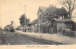 CPA 60 BRESLES LA GARE - France