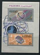 FUJEIRA-  2 Timbres Oblitérés - Espace