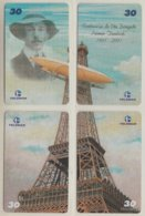 BRASIL 2001 EIFFEL TOWER DIRIGIBLE BALLOON COMANDO DA AERONAUTICA ALBERTO DUMONT PUZZLE - Puzzles