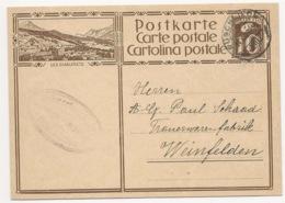 "Schweiz Suisse 1929: Bild-PK / CPI ""LES DIABLERETS"" Mit O RÜSCHLIKON 14.XI.29 Nach Weinfelden - Interi Postali"