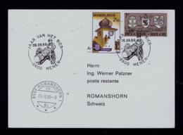 BELGIQUE Menen City Bier Beer 1986 Bières Boissons Drinks Postal Document Gc4423 - Biere