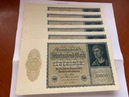 Germany 10000 Marks Banknotes 1922 Lot Of 6 : Offers ? - 1918-1933: Weimarer Republik