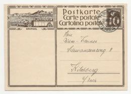 """Schweiz Suisse 1930: Bild-PK / CPI """"GRIMSEL"""" (Post-Autobus) Mit O HORGEN 11.VIII.30 Nach Kilchberg - Interi Postali"""