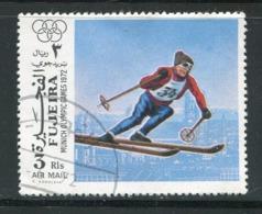FUJEIRA-  Timbre Oblitéré - Ski