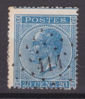 N° 18 A  :  414 BRUXELLES Rue De La Loi  COBA +8.00 - 1865-1866 Profile Left