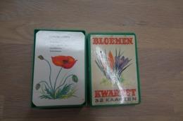 Speelkaarten - Kwartet, Bloemen, 1967, Mulder, *** - Vintage - Speelkaarten