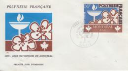 Enveloppe  FDC  1er  Jour   POLYNESIE    Jeux  Olympiques   MONTREAL   1976 - Estate 1976: Montreal