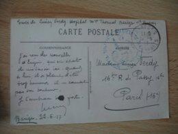 Bareges Hopital Thermal  Cachet Franchise Postale Guerre 14.18 - Guerre De 1914-18