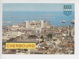 Cherbourg : Vue Générale De La Ville, La Gare, La Rade (cp Vierge N°10155) - Cherbourg