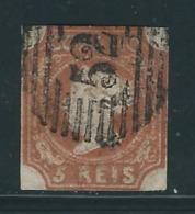 PORTUGAL  N° 1 Obl. Marges Au Filet - 1853 : D.Maria