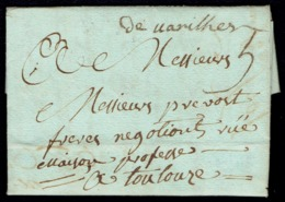 """LAC Du 02 Février 1792 De VARILHES (Ariège) Pour Toulouse - Marque Manuscrite """"de Uarilhes"""" - 1701-1800: Precursors XVIII"""