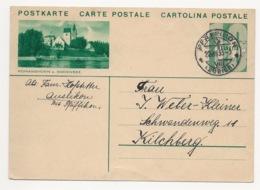 """Schweiz Suisse 1933: Bild-PK / CPI """"ROMANSHORN A.BODENSEE"""" Mit O PFÄFFIKON 22.XII.33 (ZÜRICH) Nach Kilchberg - Interi Postali"""