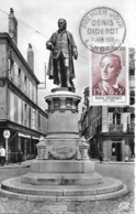 1168 -  DENIS DIDEROT - 1er Jour à Langres (Haute-Marne) Au 07-06-1958 - Cartas Máxima