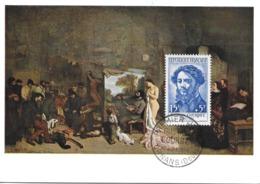 1169 - GUSTAVE COURBET - 1er Jour à ORNANS (Doubs) Au 074-06-1958 - Cartas Máxima