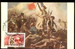 Romania, Maximum Card, French Revolution, Marianne - Franz. Revolution