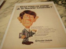ANCIENNE PUBLICITE BANQUE SOCIETE GENERALE 1969 - Advertising