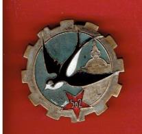 INSIGNE PUCELLE 502e GROUPE DE TRANSPORT TRAIN GUERRE D ALGERIE FABRICANT DRAGO DOS LISSE H 222 CREE EN 1939 - Landmacht