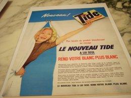 ANCIENNE PUBLICITE NOUVEAU TIDE 1962 - Publicité