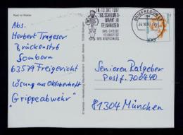 Germany Gelnhausen Bier Beer Boissons Drinks Slogan Postmark 1997 Bières Postcard Gc4427 - Biere