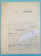 """Beau Tapuscrit Jean ROSTAND """" Hasard Et Naissance """" Choix Du Sexe De L'enfant - Biologiste écrivain - Notes Autographes - Autographs"""