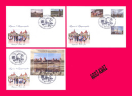 TRANSNISTRIA 2019 Tourism Architecture Fortress Tower Monastery Monument 3 FDC - Holidays & Tourism