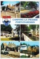 Carte Postale 14. Port-en-Bessin  Camping De La Prairie  Route De Huppain Trés Beau Plan - Francia