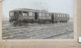 Photo 22x16 De 1911 Petit Train Des Mines Carvin – Libercourt Automotrice Benzo-électrique Attelée - Trains