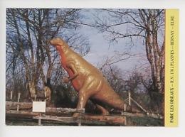 """Dinosaure - PLASNES RN 138 : Le Parc """"les Oiseaux"""" - Cp Vierge - France"""