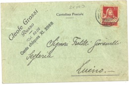LAGO  MAGGIORE  -  X LUINO  SEGHERIA  FRATELLI  GIOVANELLI  1934-DA  SVIZZERA - Varese