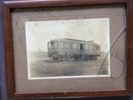 Photographie 17x22 Originale Vers 1911 -  Petit Train Des Mines Carvin – Libercourt Automotrice Le Benzo-électrique - Lieux
