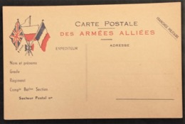 Carte De Franchise Militaire Illustrée 3 Drapeaux - Storia Postale
