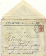 LUINO    PIROVANO E  C LUINO  1914  X  SOLDATO   PIOTTI  AMBROGIO--BUSTA - Varese
