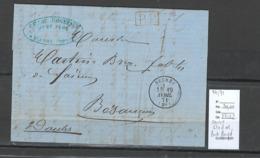 France -Lettre - Seurre - Cote D'Or - 04/71 - Port Payé En Rouge - Marcophilie (Lettres)