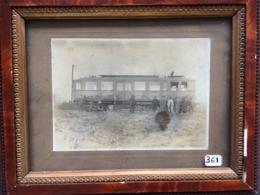 Photographie Originale 17x22 - Petit Train Des Mines Carvin – Libercourt Automotrice Le Benzo-électrique - Trains