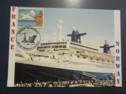 Carte Postale Philatélique Le NORWAY Escale Le Verdon Sur Mer 1998 - Piroscafi