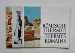 Bulgaria Bulgarie Varna Roman Baths Thermes Romains Tourist Brochure Depliant Touristique 60's - Reiseprospekte