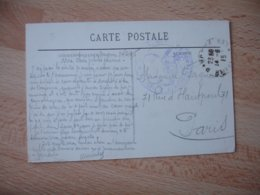 Bayonne Hopital Depo Convalescents Cachet Franchise Postale Guerre 14.18 - Storia Postale