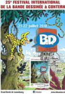 21-22.07.2018  -  25e Festival International De La Bande Dessinéé à Contern - Tarjetas Máxima