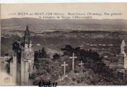 DEPT 69 : édit. S Farges N° 1523 : Saint Cyr Au Mont D'Or , Mont Cinare L Ermitage Vue Générale Le Calvaire La Vierge Et - France