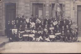 GIRONDE – BORDEAUX – Carte Photo Congrés De L'Union Des Syndicats 1913 - Bordeaux