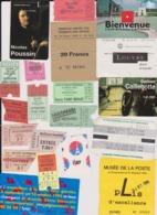 Lot 20 Tickets Visites Sites Touristiques Musée Piscine Abbayes Etc...  Région Paris IDF Essentiellement - Tickets - Entradas