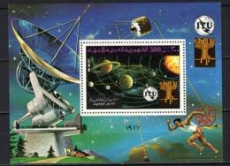 LIBIA - 1977 - 9th World Telecommunications Day - Souvenir Sheet - MNH - Libia
